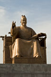 King Sejong Statue in Gwanghwamun Plaza,South Korea Royalty Free Stock Images