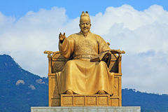 King Sejong Statue, Seoul, Korea Stock Photo