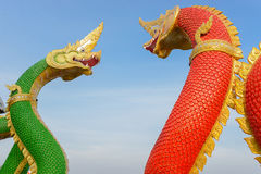 King of serpent statue Stock Photo