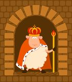 King of sheep in a crown Royalty Free Stock Photo