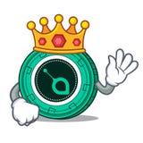 King SiaCoin mascot cartoon style. Vector illustration Stock Photography