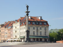 King Sigismund column (erected in 1644) on castle square,  in ol Stock Photography