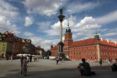 King Sigismund Column and Royal Castle in Warsaw, Poland. Royalty Free Stock Photography