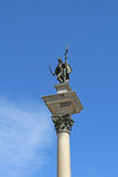 King Sigismund III Vasa statue on top of the Corinthian column at Old Town Royalty Free Stock Photos