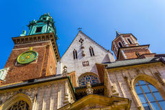 King Sigismund's Cathedral and Chapel, Royal Castle at Wawel Hill, Krakow, Poland Royalty Free Stock Image