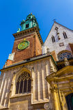 King Sigismund's Cathedral and Chapel, Royal Castle at Wawel Hill, Krakow, Poland Stock Photos