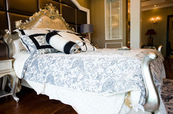 King size bed Stock Photos
