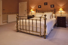 King size bed stock images