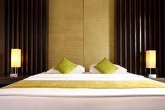 King size bed Stock Photography