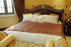 The King size bed Stock Photo