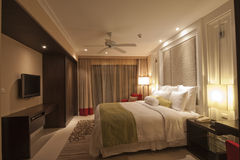 King Size Bed. In luxury hotel Stock Photography