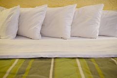 King Size Bed Royalty Free Stock Photo