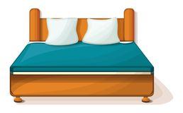 King size bed icon, cartoon style royalty free illustration