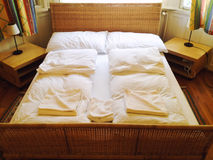King size bed Stock Image