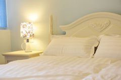 King sized bed Stock Images