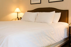 King sized bed Stock Image