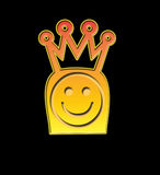 King Smiley. The King of the Smileys Stock Photo