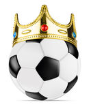 King soccer ball Stock Photography