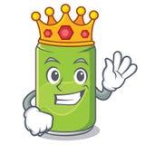 King soft drink character cartoon. Vector illustration Stock Photos