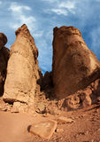 King Solomon's Pillars. Solomon's Pillars at the Timna Park Israel is one the most exciting geological features in Timna Valley Park. this frame is a panorame of Royalty Free Stock Image