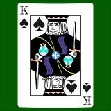 King spades. Card suit icon vector, playing cards symbols vector royalty free illustration