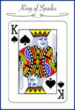 King of Spades, illustration of a playing card Royalty Free Stock Photos