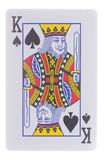 King of spades isolated on white. Background Stock Photos
