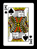 King of spades playing card, Stock Image