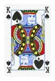 King of Spades playing card - isolated on white. Clipping path included royalty free illustration