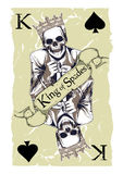 King of spades Royalty Free Stock Images