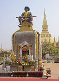 King statue in  Vientiane Royalty Free Stock Photo