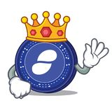 King Status coin mascot cartoon. Vector illustration Stock Photos