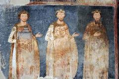 King Stefan Radoslav, Vladislav and Prvovencani royalty free stock photo