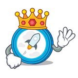 King stellar coin character cartoon. Vector illustration Royalty Free Stock Photo