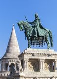 King Stephen horse statue in Budapest. King Stephen horse statue in Fishermen bastion, Budapest stock images