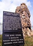 The King Stone, Rollright stones, Oxfordshire. Royalty Free Stock Photo