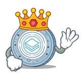 King Stratic coin mascot cartoon. Vector illustration Stock Photo