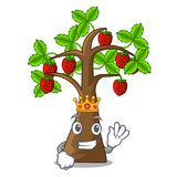 King strawberry tree isolated with the cartoon. Vector illustration stock illustration