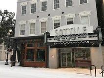 King Street, Charleston, SC.   Snowstorm of 2018 Stock Photo