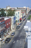 King Street in historic Charleston, SC stock photos