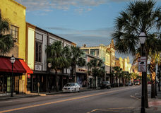 King Street, Historic Charleston, SC. Royalty Free Stock Images