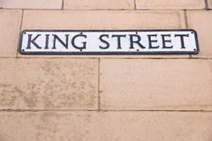 King Street in Manchester Stock Photography
