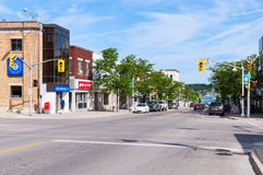 King street in Midland, Ontario Stock Photography
