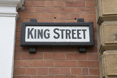 King Street Sign, Leeds; Yorkshire Royalty Free Stock Photography