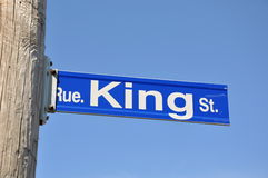 King street sign Royalty Free Stock Image
