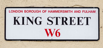 King Street W6 London Borough Of Hammersmith And Fulham Stock Photography