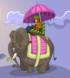 King style elephant ride Royalty Free Stock Photography