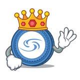King Syscoin mascot cartoon style. Vector illustration Stock Photography