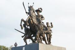 The King Taksin of Thailand. Regain freedom for Thai people Stock Photos