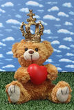King teddy bear Stock Photo